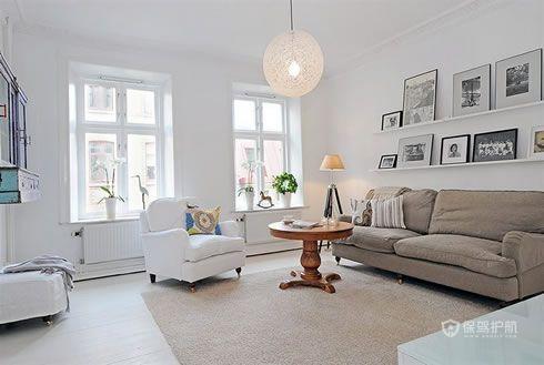 纯白清新家 北欧风一居室