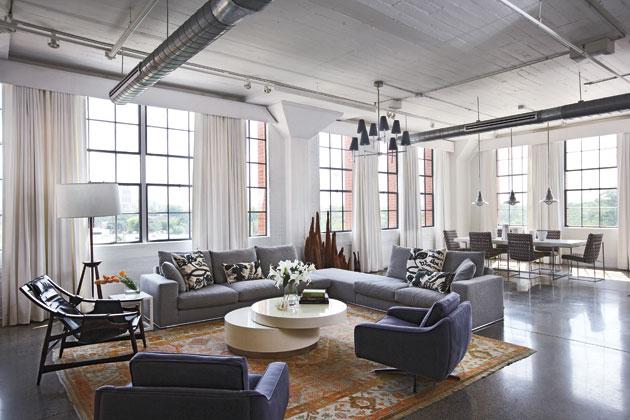 冷暖色调完美结合 优雅现代loft