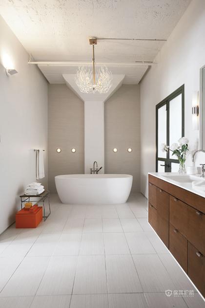 简约风格大户型别墅20平米卫生间装修效果图
