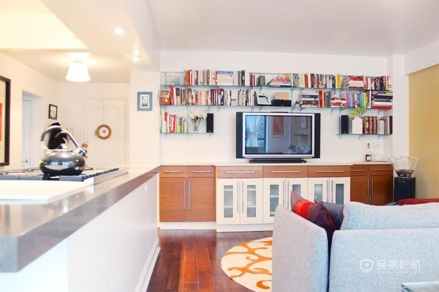 110平宜家风二居室客厅电视墙装修效果图