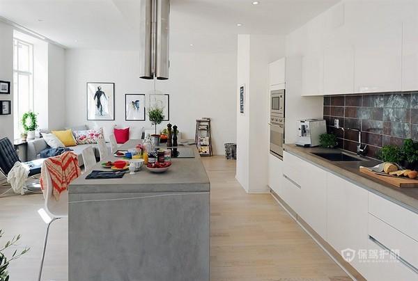 白色北欧风二居室厨房装修效果图