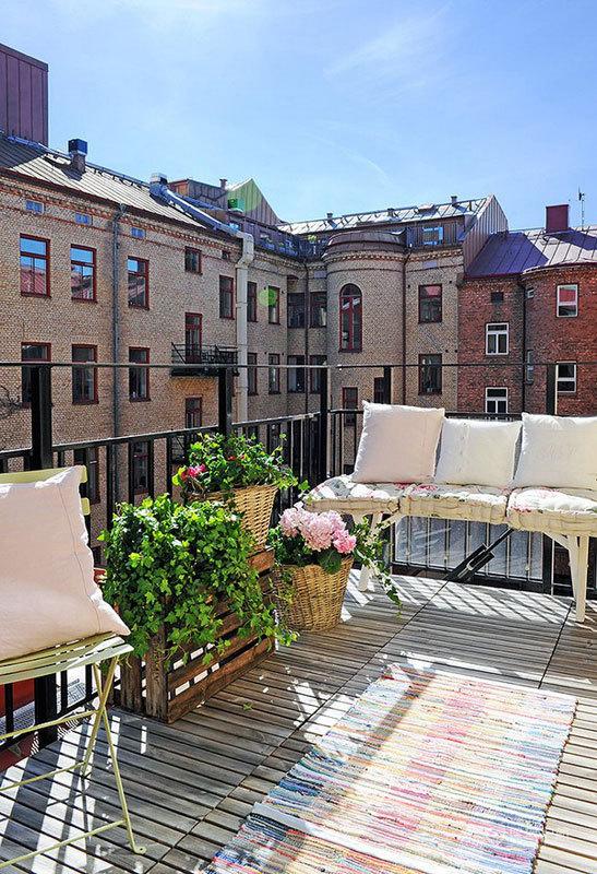 大气岛台设计 白色北欧风两居 二居室装修,经济型装修,北欧风格,海外家居,露台