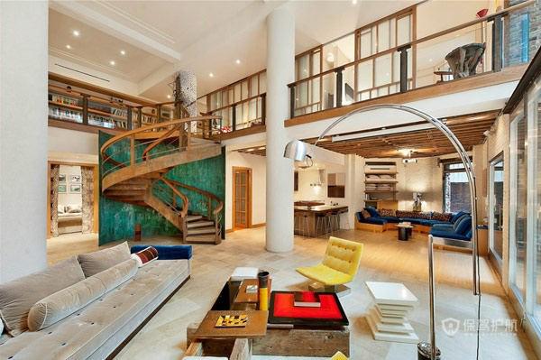 420平暖色豪华公寓 错落有致的层次