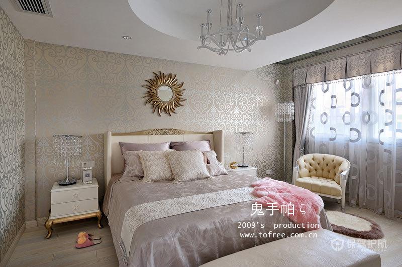 优雅精致新古典别墅卧室装修效果图