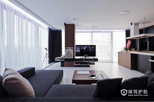 现代优雅风 黑白棕简约公寓