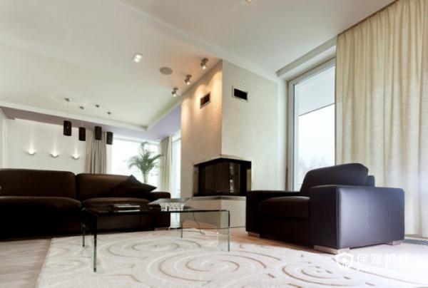生机勃勃 色彩明亮跃层富裕装修 跃层装修,富裕型装修,简约风格,客厅,沙发,茶几,窗帘