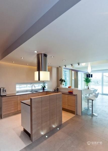 生机勃勃 色彩明亮跃层富裕装修 跃层装修,富裕型装修,简约风格,厨房,原木色,橱柜