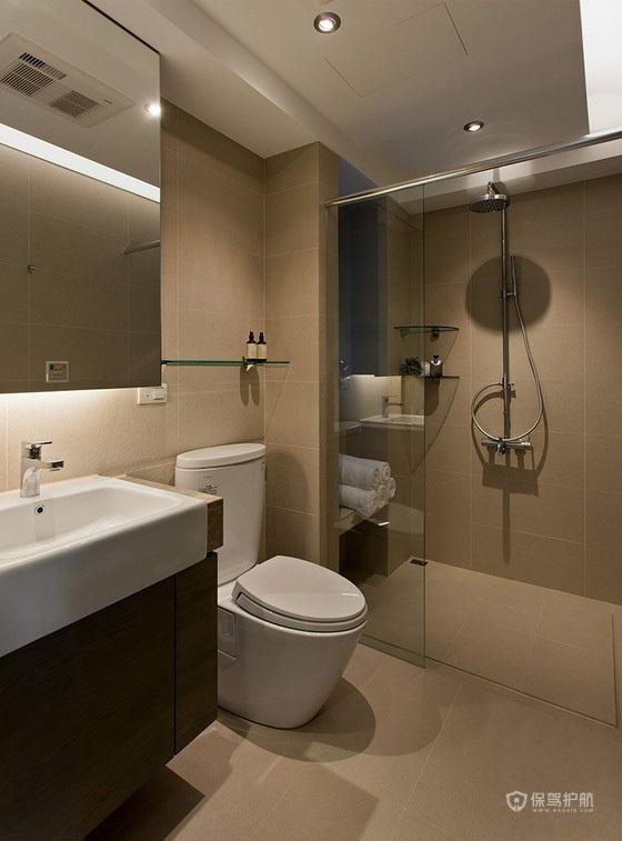 130平台湾北欧风四房卫生间装修效果图