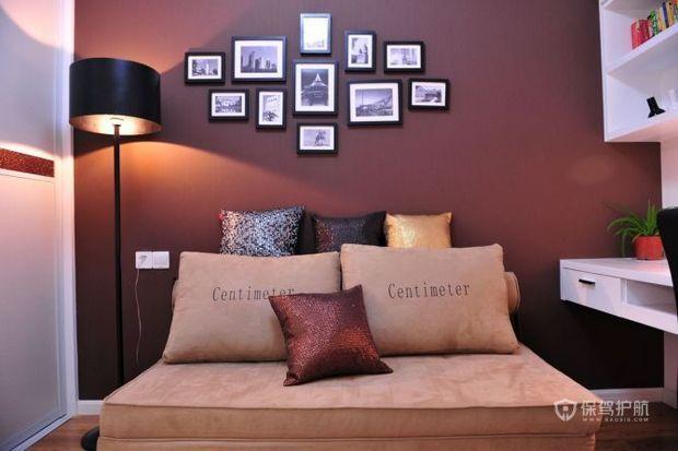80平简欧二居书房沙发照片墙装修效果图