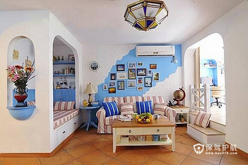 经典地中海风 三房两厅浪漫婚房