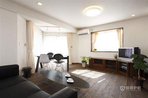 75平日式二居室客厅装修效果图