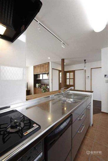 75平日式二居室厨房装修效果图