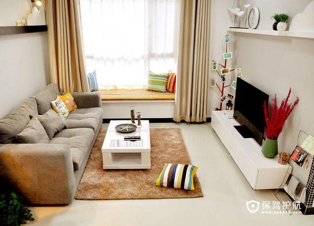 完美飘窗惬意家 75平开放式一居室