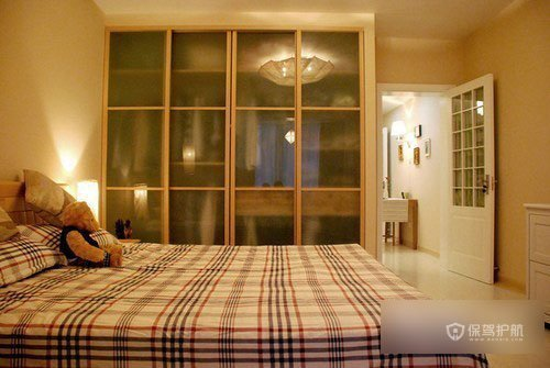 简约美式田园风小户型卧室装修效果图