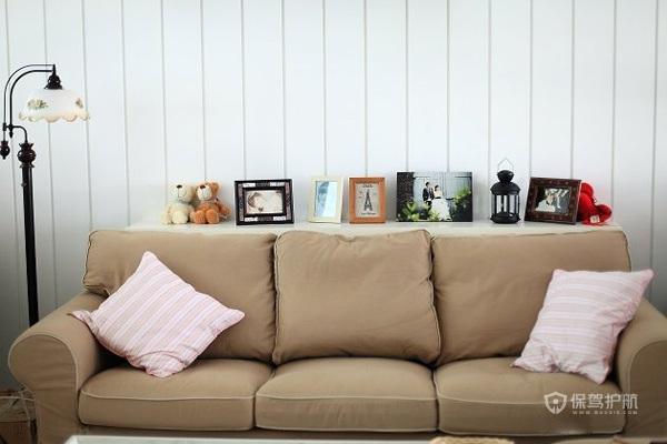 北欧风格三室两厅10平米客厅板材背景墙效果图