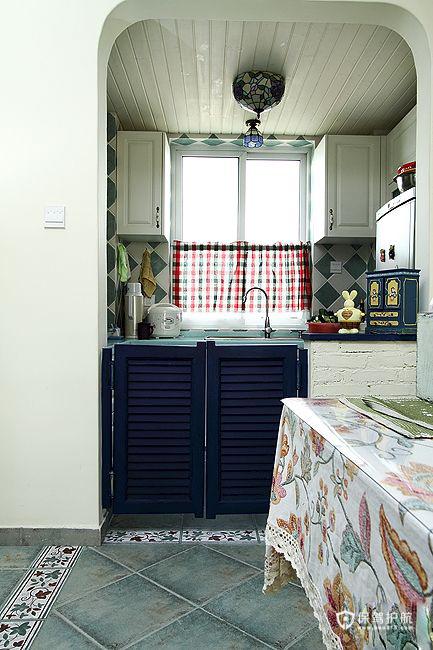 地中海风格特辑 15组精选地中海厨房效果图