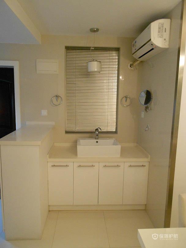 简约风格两室一厅精装房卫生间洗手台装潢效果图