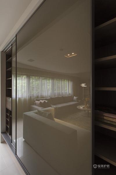 台式优雅气质 115平现代简约风三居 三居室装修,110平米装修,富裕型装修,简约风格,德力设计,台湾家居,储藏室