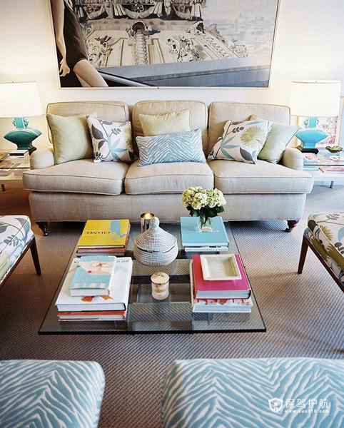 美式客厅 30个美式风格沙发搭配方案 美式风格,客厅,沙发,茶几,唯美