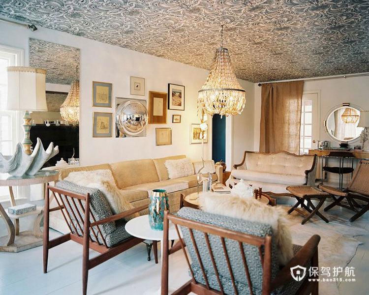 美式客厅 30个美式风格沙发搭配方案 美式风格,客厅,沙发,茶几,吊顶,沙发背景墙