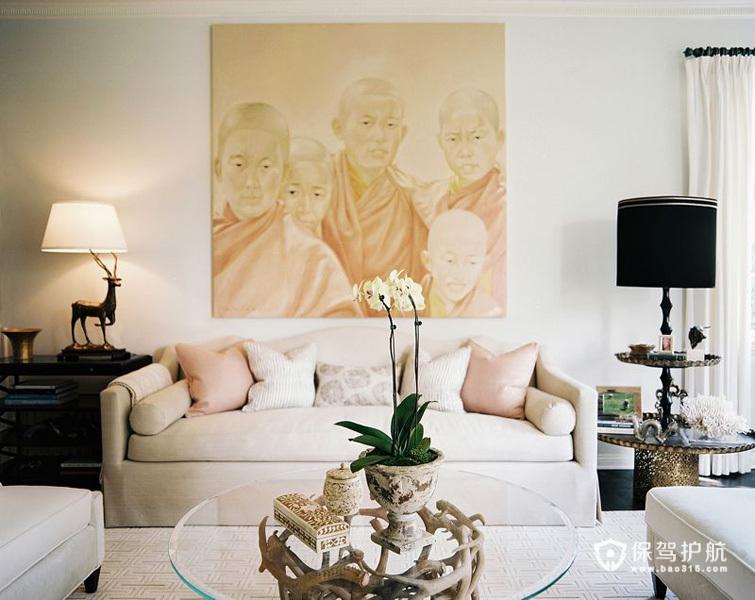 美式客厅 30个美式风格沙发搭配方案 美式风格,装饰画,客厅,沙发,茶几