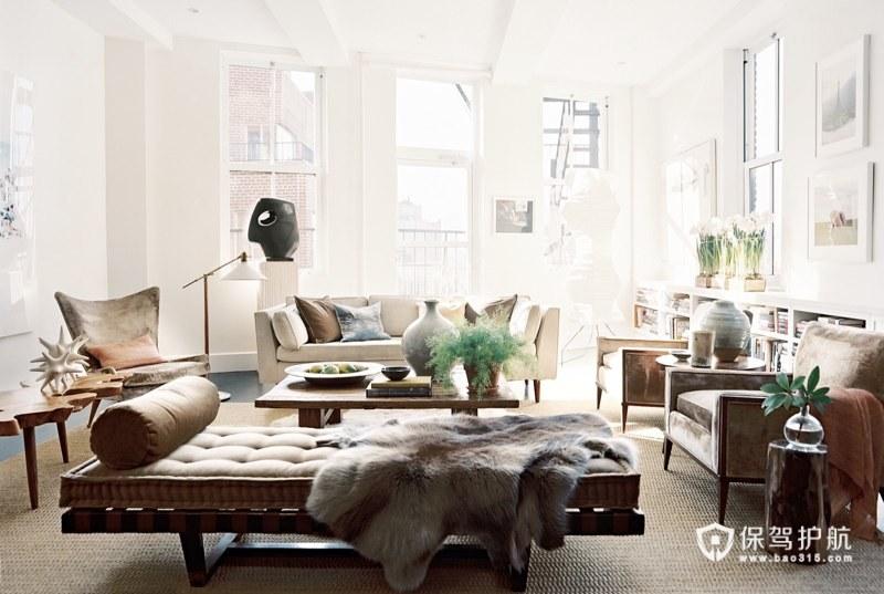 美式客厅 30个美式风格沙发搭配方案 美式风格,客厅,