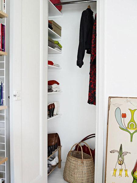 花样壁纸 40平北欧风田园情怀 小户型装修,公寓装修,北欧风格,40平米装修,储藏室,