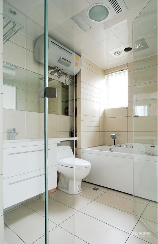素雅白色简约风90平公寓卫生间卫生间装修效果图