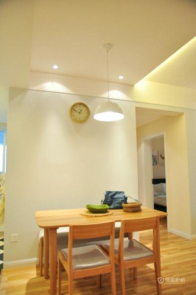 50平宜家风二居室餐厅灯具装修效果图