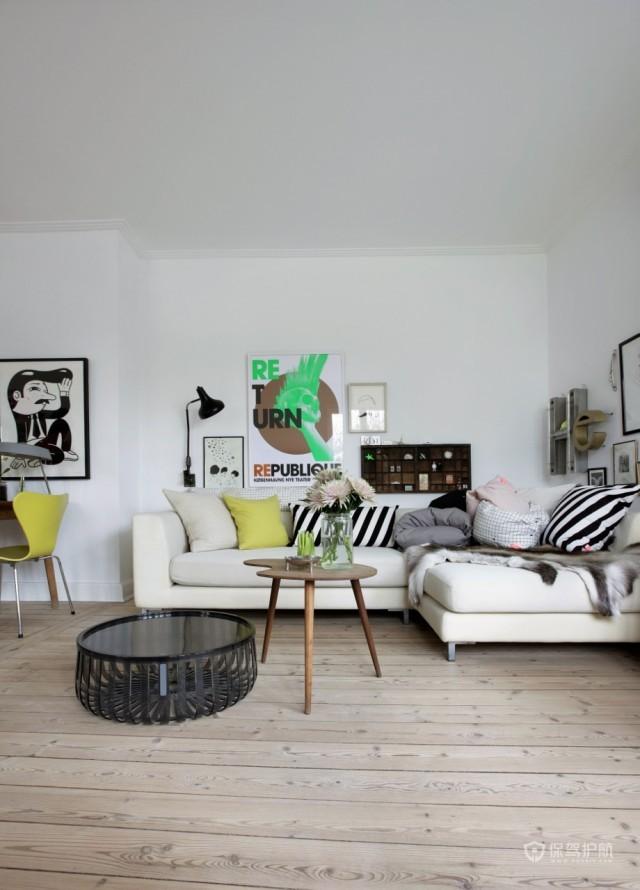 生活工作于一体 简约纯白一居室