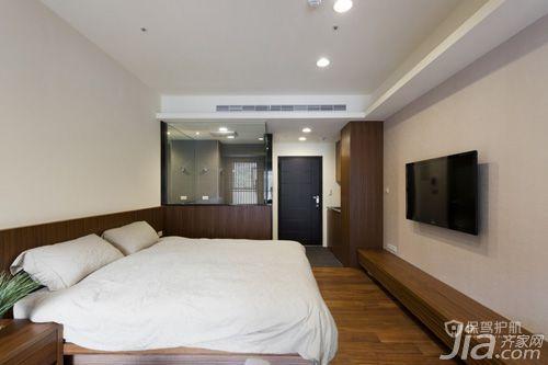 60平日式一居室卧室地板装修效果图