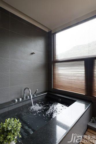 60平日式风格一居室卫生间浴缸装修效果图