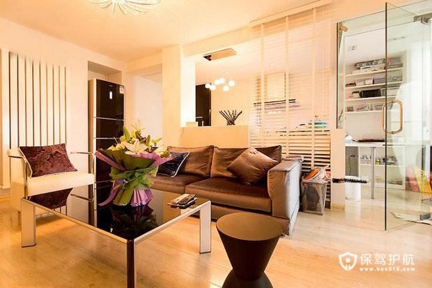 清新简约loft 精心设计一居室 一居室装修,富裕型装修,简约风格,客厅,茶几
