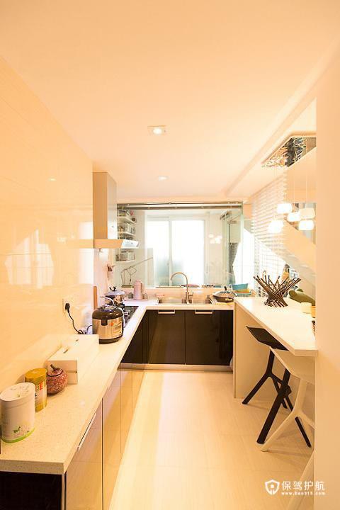 清新简约loft 精心设计一居室 一居室装修,富裕型装修,简约风格,厨房,橱柜