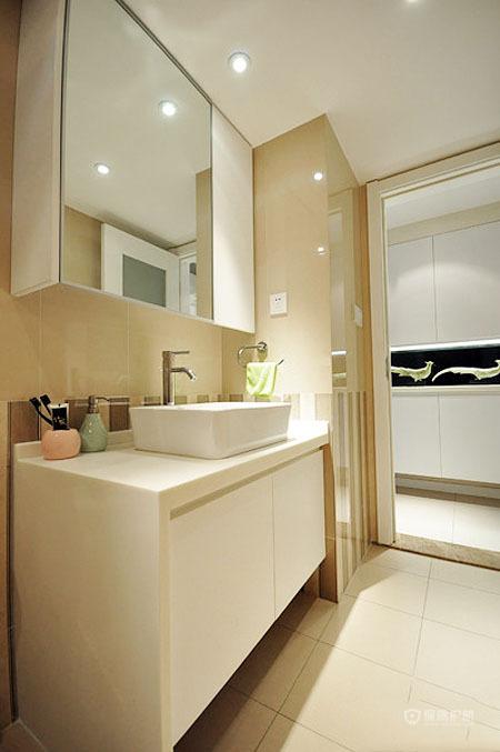 宜家风简约二居室卫生间洗手台装修效果图