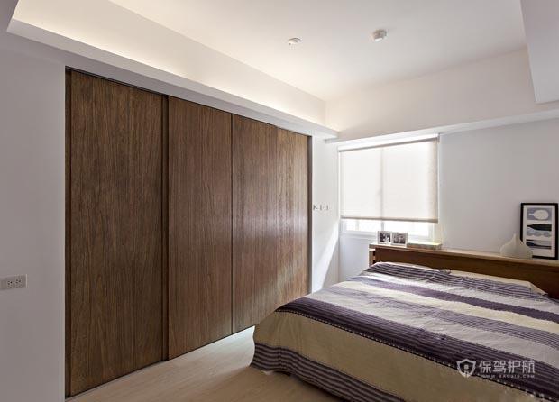 100平简约原木色一居室卧室装修效果图