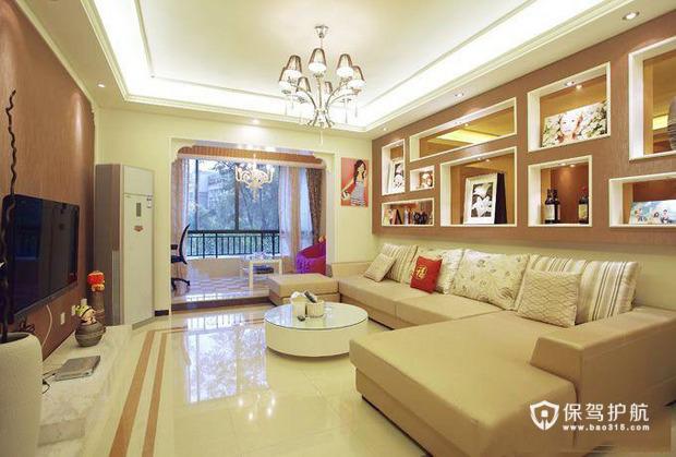 阳台变书房 简洁清爽一居室