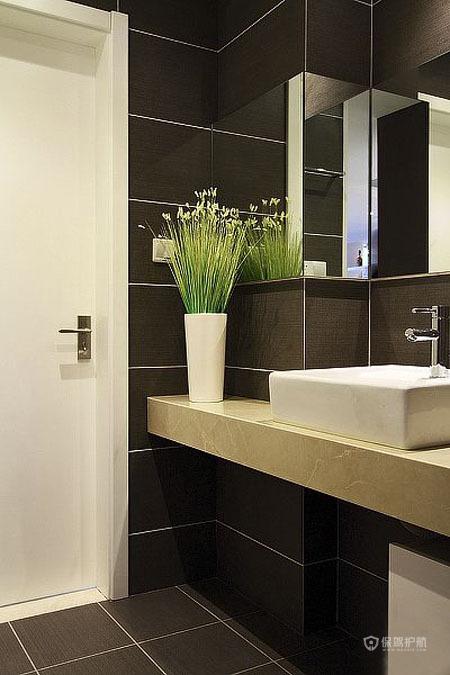 90平简约风格一居室卫生间装修效果图