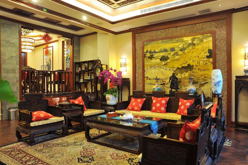 复古中国风 中式奢华跃层