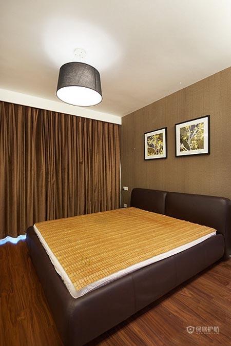 6万半包简约三室两厅卧室背景墙装修效果图