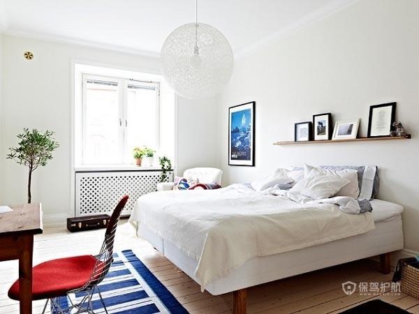 60简洁北欧家一居室卧室地板装修效果图