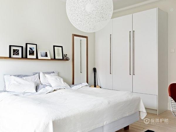 60平简洁北欧家一居室卧室装修效果图