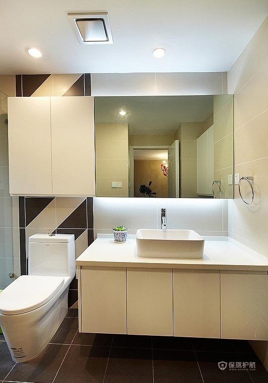 90平简约风二居室卫生间洗手台装修效果图
