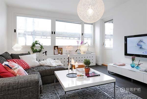 80平北欧风二居室客厅装修效果图