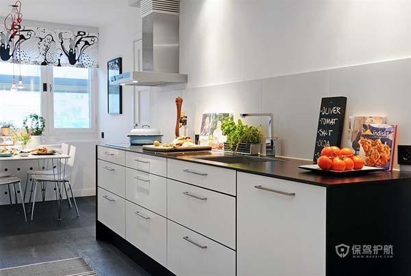 80平北欧风二居室厨房橱柜装修效果图