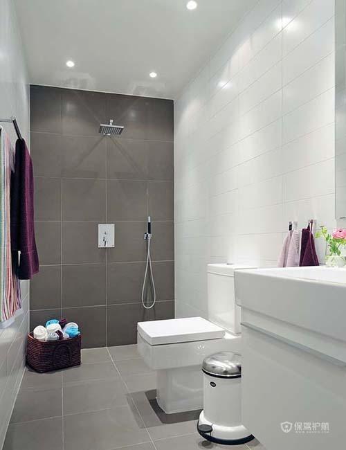 80平北欧风二居室卫生间瓷砖装修效果图