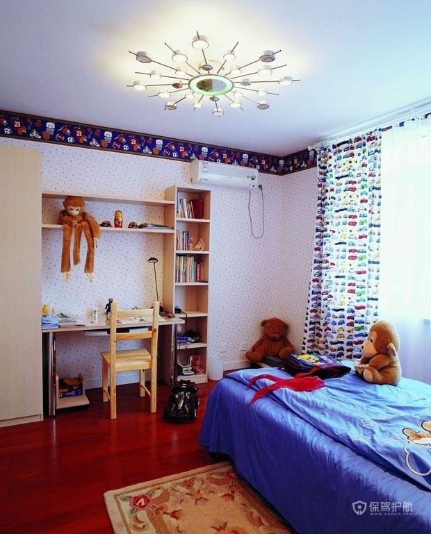 混搭风格二居室儿童房墙面装修效果图