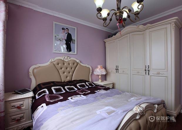 90平米美式混搭一居室卧室墙面装修效果图