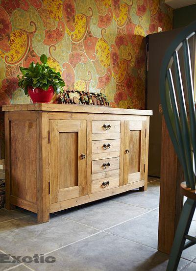 三室两厅50平东南亚风格客厅木柜效果…