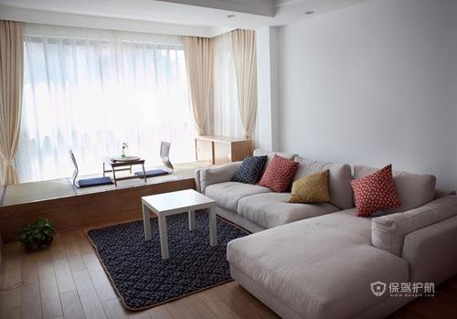 140平温暖日式原木风小复式客厅榻榻米装修效果图